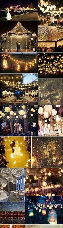 Światełka i lampiony na weselu. Pięknie to wygląda :). A jak Wam się podoba?
