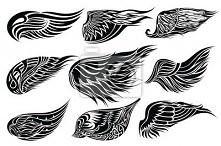 projekty skrzydeł na tatuaż xD