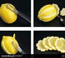pomysłowe plasterki cytryny