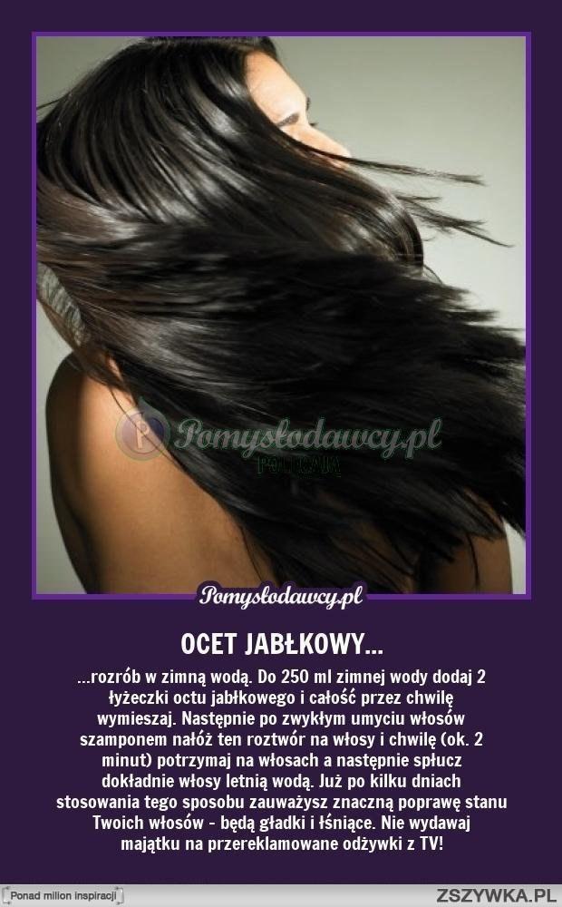 OCET JABŁKOWY - sposób na gładkie i lśniące włosy w parę dni ;) Piękne włosy