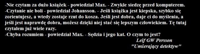 """""""UMIERAJĄCY DETEKTYW"""" - Leif GW Persson"""