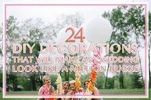 24 dekoracje weselne