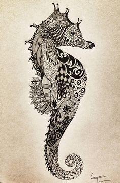 Konik Morski Na Tatuaże Zszywkapl