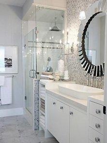 Pomysł na jasną łazienkę.