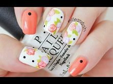 Easy Floral Nails (With a T...