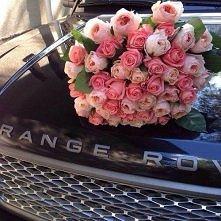kwiatki, kwiatkami ale jaki piękny przód samochodu