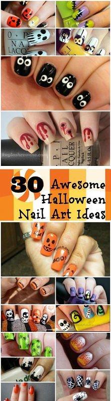 Paznokcie na Halloween wzory i FILMY -->>