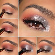Makijaże oczu --makijaż ze srebrnym cieniem --->> więcej FILM