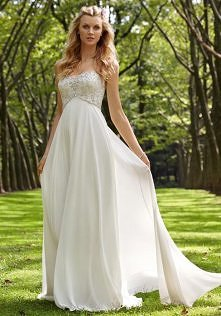 sweetheart crystals a-line appliques chiffon wedding dress - wegdress.com