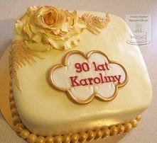 Kremowo złoty na urodziny