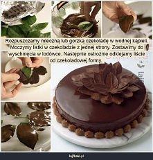 Jak zrobić czekoladowe listki do dekoracji?