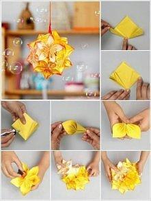 Origami modułowe kwiaty