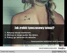 tymczasowy tatuaż :D