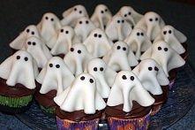 halloween babeczki duch ghost