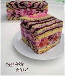Składniki na ciasto:  - 9 białek  - 4 żółtka  - 1 i 1/2 szklanki cukru  - 1 c...
