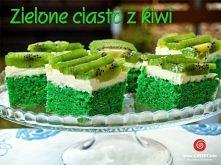 Zielone ciasto cytrynowe z kiwi