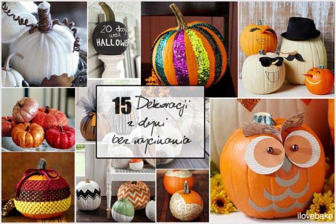 15 dekoracji z dyni bez wycinania