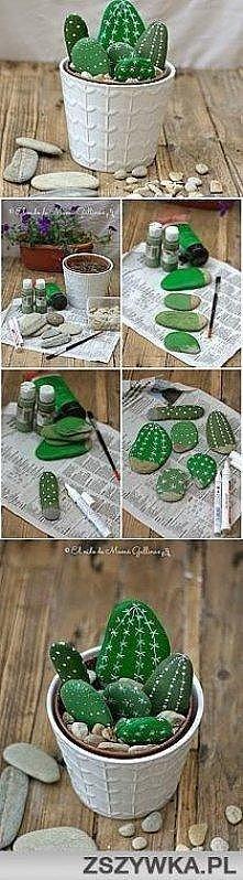 Piękne, łatwe do zrobienia kaktusiki. Prezentują się naprawdę okazale!
