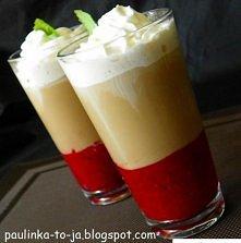 Malinowe Frappe  Składniki na 2 porcje:  szklanka malin łyżka cukru 2 kostki gorzkiej czekolady kilka kostek lodu 120ml mocnej kawy, schłodzonej pół szklanki mleka cukier do pos...