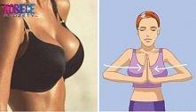 ćwiczenia na jędrne piersi Seria 10–15 razy: wyprostuj ramiona i złącz dłonie na wysokości piersi. Mocno dociśnij je do siebie, licząc do trzech. Rozluźnij mięśnie.