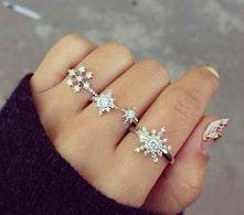 zimowe pierścionki