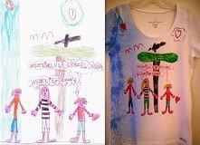 Koszulka-laurka. Obrazek przenioslam na koszulkę.  Praktyczny, bardzo osobist...
