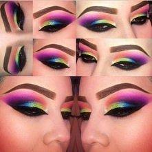 tęczowy makijaż oczu