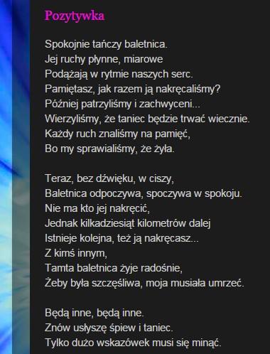 Czar Kropliblogspotcom Na Wiersze Zszywkapl