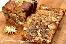 Chleb owocowy Składniki: 200g pełnoziarnistej mąki pszennej 2 płaskie łyżeczki proszku do pieczenia 4 jajka 2 łyżeczki cynamonu 150g miodu 150g posiekanych orzechów laskowych 15...