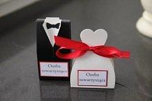 Pudełeczka-winietki do składania personalizowane, dostępne tylko na annart-atelier, w dowolnie wybranej kolorystyce. Polecam!!!