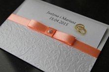 Zaproszenia tłoczone w formie koperty na ślub i nie tylko, dostępne w każdej kolorystyce. Zapraszam na annart-atelier.pl