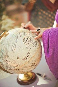 Globus - idealna księga gości dla pary podróżników :)