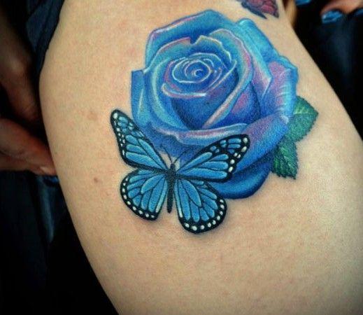 Róża I Motyl Na Tatuaże Zszywkapl