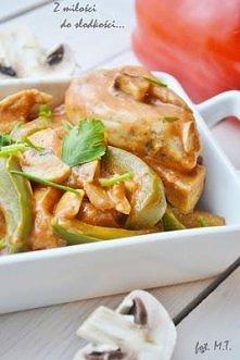 Kurczak z warzywami z patelni