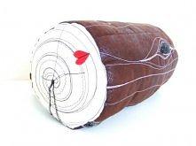 Log pillow. Handmade by Lady Stump.