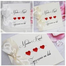 Zaproszenia ślubne Serca