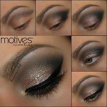 błyszczący make-up :)