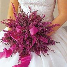 jesienny bukiet ślubny - wrzos