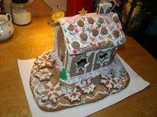świąteczny domek na prezent ;)
