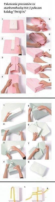 Pomysły na zapakowanie prezentu...