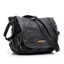 Czarna torebka na ramię, kl...