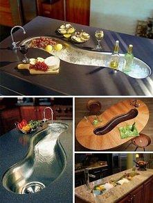 Pomysłowe urządzenie kuchni - nietypowy zlewozmywak dla kreatywnych osób.