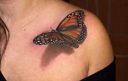 Tatuaż 3d Motyl Na Tatuaże Zszywkapl