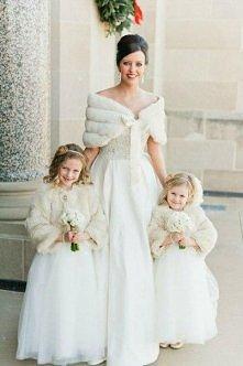 Zimowe okrycia na suknie ślubne