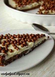 Czekoladowa Piękność - czyli tarta czekoladowa na kokosowym spodzie