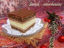 """Sernik - orzechowiec  """"Sernik w wybornym towarzystwie puszystego kremu c..."""