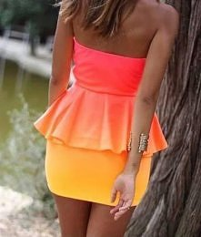 Ombre dress.