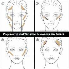 Poprawne nakładanie bronzera na twarz :)