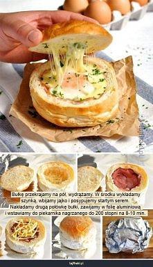 Jak zrobić jajko w bułce?