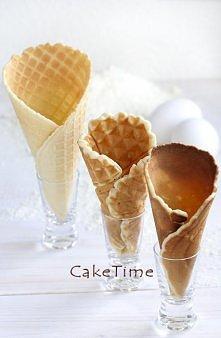 domowe wafle do lodów